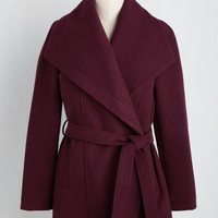 Jack by BB Dakota Boston Bake-Off Coat in Cranberry | Mod Retro Vintage Coats | ModCloth.com
