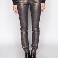 Metallic zip pants - Shop the latest Fashion Trends