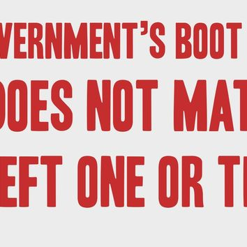 The Government's Boot Bumper Sticker