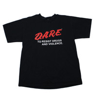 Vintage 90s DARE to Resist Drugs and Violence Shirt Mens Size Large
