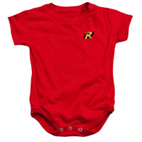 BATMAN/ROBIN LOGO - INFANT SNAPSUIT - RED - XL (24 Mos)
