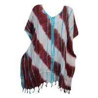 Mogul Women's Tassel Fringe Dress Tie Dye Kimono Sleeves Beach Cover Up XL - Walmart.com