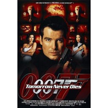 Tomorrow Never Dies poster Metal Sign Wall Art 8in x 12in