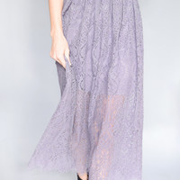 Eyelash Lace Midi Skirt