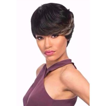 100% PREMIUM HUMAN HAIR WIG DUBY WIG (FEATHER 4)
