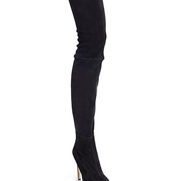 Brian Atwood - David Stretch Suede Thigh-High Boots