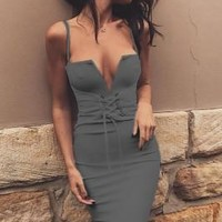 'CARRIE' Belted Dress