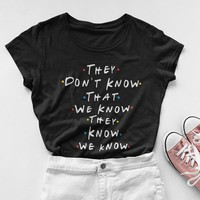 Friends Tv Show Shirt Harajuku Women Tshirt Friends T-shirt  Mother Gift Tumblr Fall Clothing Vintage 90s  Cotton Punk Tops Tee