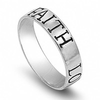 Faith, Hope, Love Sterling Silver Ring