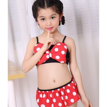 Minnie Mouse Bow knot Baby Girl Swimwear
