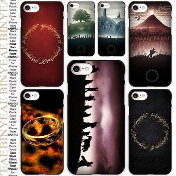 LORD OF THE RINGS Black Scrub Case Cover Shell for iPhone Apple 4 4s 5 5s SE 5c 6 6s 7 Plus