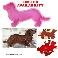 Dachshund Cake Pan Silicone Mold for Jello, Cake, Ice Sculpture