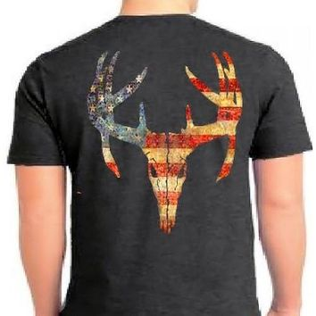 Country Life Outfitters Vintage USA Deer Skull Unisex T-Shirt