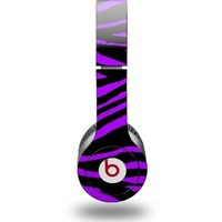 Purple Zebra Decal Style Skin fits Beats Solo HD Headphones - (HEADPHONES NOT INCLUDED)