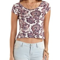 Criss Cross Back Crop Tee by Charlotte Russe