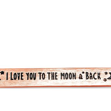 "Rose Gold ""I Love You To The Moon And Back"" Necklace"