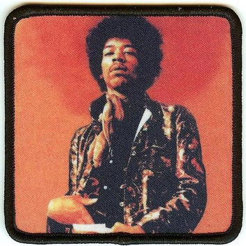 Jimi Hendrix Iron-On Patch Pose