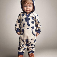 2016 Children Autumn Winter Clothes Newborn Infant Baby Boy Girl Kids Cotton Romper Jumpsuit Outfit Clothes
