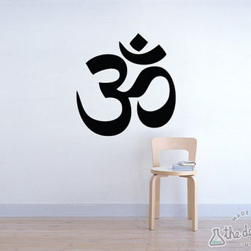 Yoga Ohm Om Vinyl Wall Decal