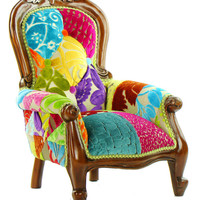 Patchwork Child's Grandfather Chair Designers Guild Fabric