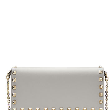 Valentino - Rockstud Leather Wallet on Chain