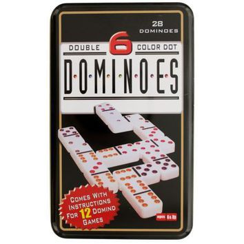 Double 6 Color Dot Dominoes Game Set: Case of 4