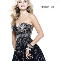 Sherri Hill Short Dress 8526 at Peaches Boutique