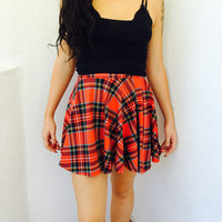 Sumi Plaid Skirt