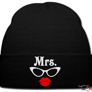 mrs geek beanie knit hat