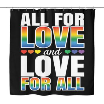 """LGBT Gay Pride Shower Curtain by Living Gay 
