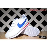 NIKE Classic Cortez Forrest sports running shoes F-SSRS-CJZX White - blue hook