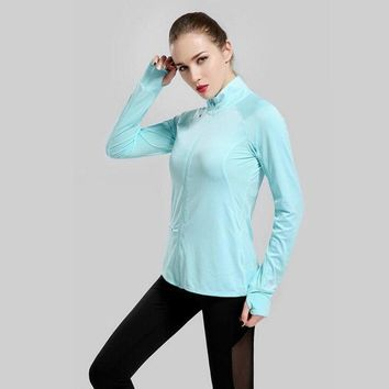 High Quality Women Running Sportswear Stand Collar Long Sleeved Softshell Jacket Jogging Exercise Training Flexible Female Coat