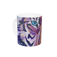 "Brienne Jepkema ""Purple Tiger"" Orange White Ceramic Coffee Mug"