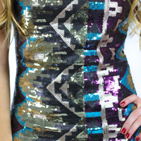 These Are the Nights Dress - Teal