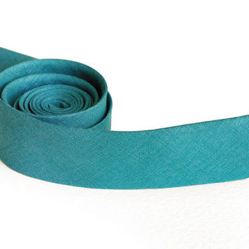 Teal Tie / Men's skinny tie / Wedding Ties / Necktie for Men FREE GIFT