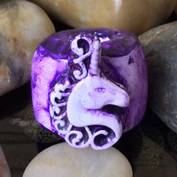 UNICORN Dread Bead, Dreadlock Bead,