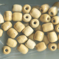 10 barrel beads wooden bead lot plain macrame unpainted big wood beads 12mm x 16mm Jewelry crafts supplies