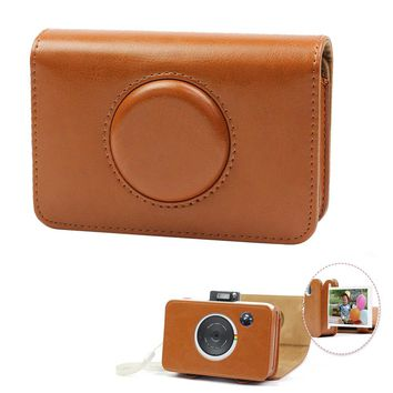 Besegad Retro PU Leather Waterproof Anti-shock Storage Carry Bag Case Cover for Polaroid Snap Touch Instant Print Digital Camera