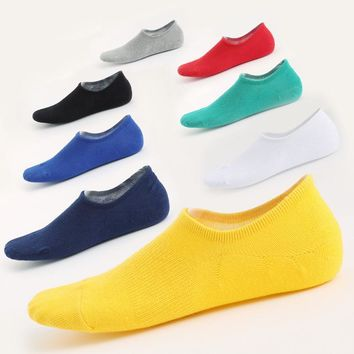 men summer fashion non-slip invisible boat socks for cotton low socks male stealth sock slipper 5pairs/lot
