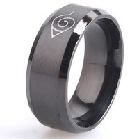 drop ship ok anti allergy 2017 New width 8mm men Naruto rings stainless steel classic women ring jewelry hot