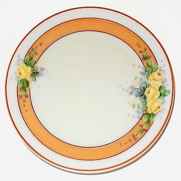 Thomas Bavaria Porcelain Plate Antique Stouffer Studio Orange Yellow Art Deco