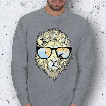 Black Friday Funny Lion Men Basic Sweatshirt / Special Production (Limited Edition)