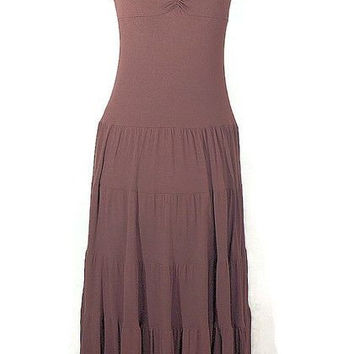 Vintage 1980 Boho Ballet Knit Long Dress