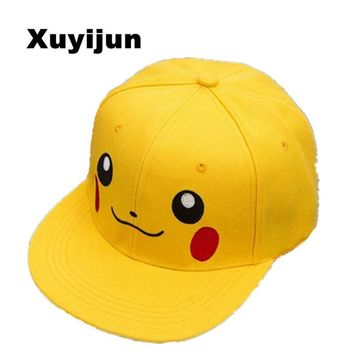 Trendy Winter Jacket Xuyijun Anime Pokemon Pikachu Cosplay Baseball Caps Adults and children Hip Hop Hat Kids Biboo Swag Snapback Parent-child cap AT_92_12