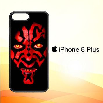 Star wars darth maul scary face V0516 iPhone 8 Plus Case