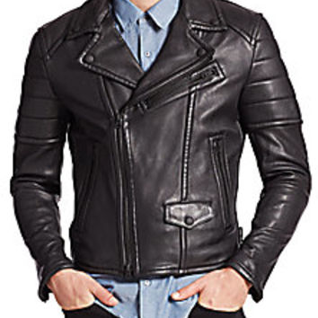 Burberry Brit - Gransford Leather Jacket - Saks Fifth Avenue Mobile