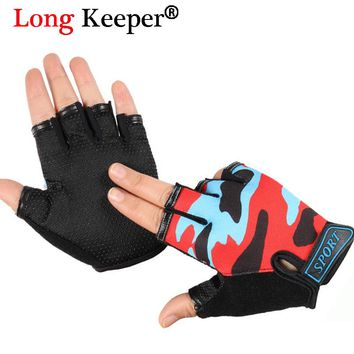 Long Keeper Kids Gloves for 4-12 Years Children Anti Skid Hot Sale Boys Girls Breathable Sports Gloves Fingerless Mittens Luvas