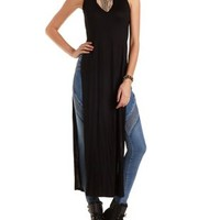 Mock Neck Sleeveless Maxi Tee by Charlotte Russe