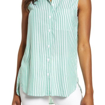 beachlunchlounge Ana Sleeveless Stripe Shirt | Nordstrom