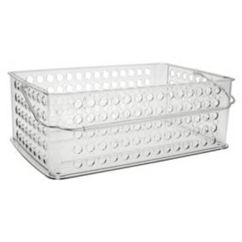 InterDesign Large Plastic Tote Basket - Clear : Target